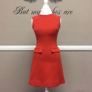 Red mod dress